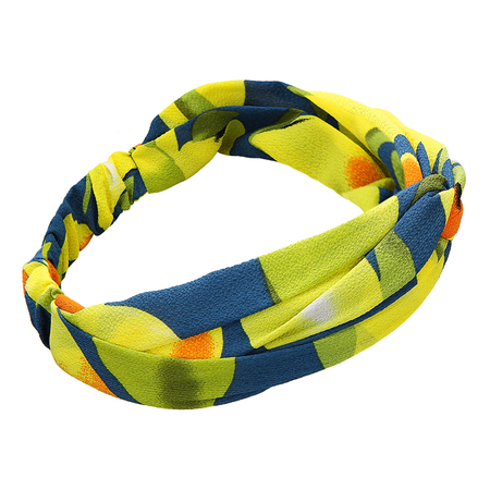 Mango Fruit Printing Navy Cross Elastic Headband
