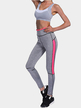 Grey and Pink High-waisted Sports Leggings