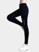 Active Quick Drying Elastic Strap High-waisted Leggings in Navy