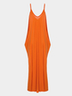 Sexy Backless Cami Maxi Dress in Orange