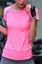 Raglan Sleeved Gym T-shirts in Pink