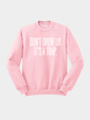 Pullover Pink Letter Printed Front Sweatshirt