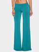 Blue Fashion Low Waist Wide Leg Trousers