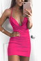 Rose Pink Halter Backless Bodycon Dress