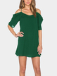 Atrovirens Cold Shoulder Mini Dress