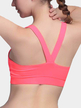 Medium Impact Anti-shock Backless Design Sports Bra in Rose