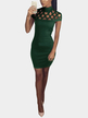 Green Sexy Hollow Details Sleeveless Casual Dress