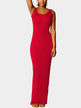 Red Scoop Neck Sleeveless Maxi Dress