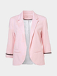 Fashion Three Quarter Length Sleeves Open Front Blazer