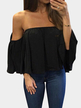 Black Sexy Off Shoulder Loose Fit Blouse