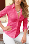 Rose Lapel Collar Long Sleeves Shirt
