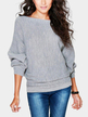 Grey Long Sleeves Loose Jumper