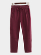 Red Casual Style Trousers