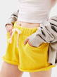 Active Drawstring Loose Sports Short in Yellow