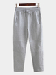 Casual Simple Style Trousers In Gray