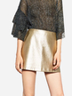 Gold Fashion A-line Mini Skirt