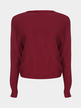 Burgundy Sexy Pullover Bat Sleeves Loose Jumper