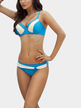 Aquamarine and White Bikini Set