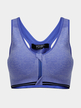 Royal Blue Zipper V Neck Gym Cropped Vest