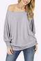Grey Casual Lightweight Scoop Neck T-shirts