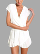 V-neck Wrap Front Playsuit in White