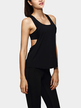 Black Scoop Neck Loose Tank Top