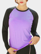 Active Round Neck Long Sleeves T-shirt in Purple