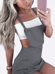 Casual Tie-Strap Playsuits in Grey