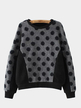 Polka Dot Long Sleeve Sweatshirt