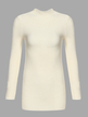 Beige Casual High Neck Pullover Long Sleeves Sweater