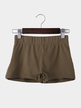 Dark Camel Bodycon Gym Shorts