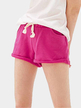 Active Drawstring Loose Sports Short in Rose